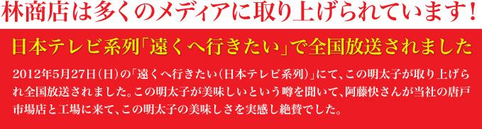 日本テレビ系列「遠くへ行きたい」で全国放送されました